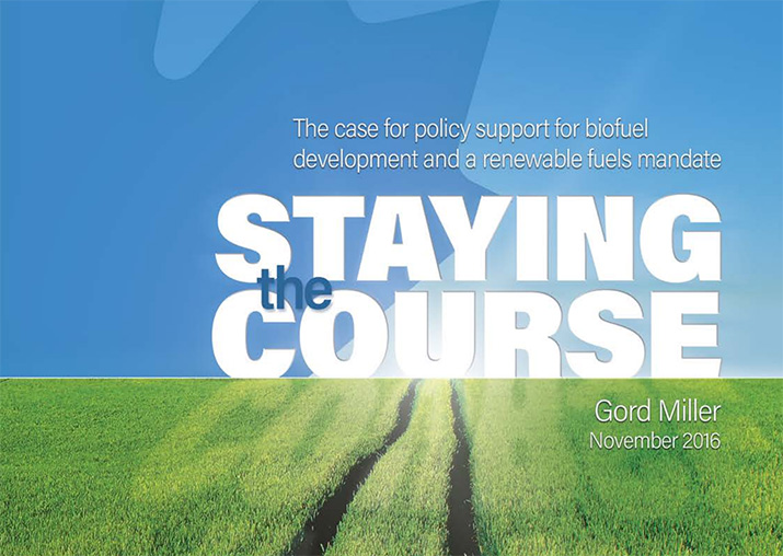 Staying the course by Gord Miller